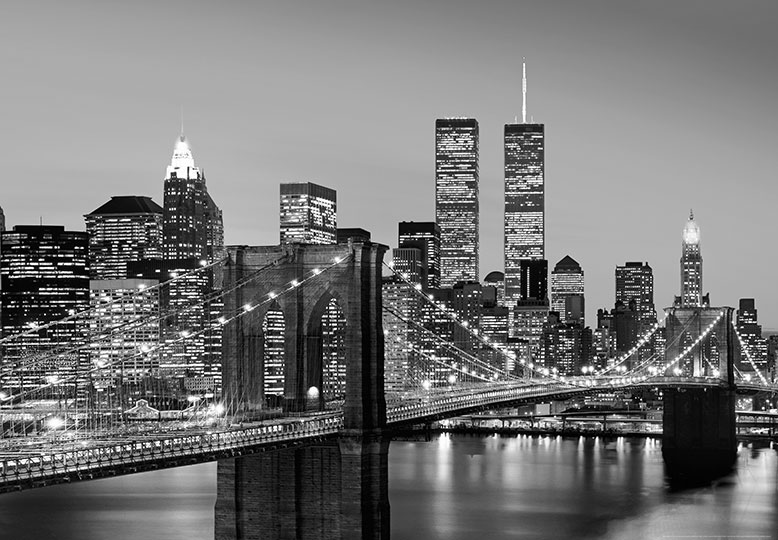 Foto tapet 138 (SL.114) Manhattan Skyline at night 366x254
