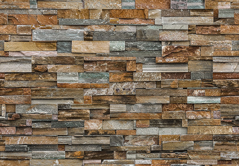 Foto tapet 159 Colorful Stone Wall 366x254
