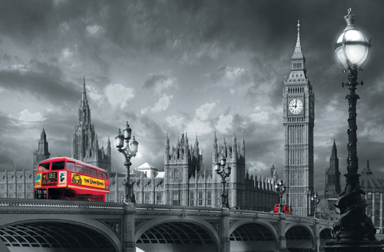 Posteri 697 Bus on Westminster Bridge 175x115