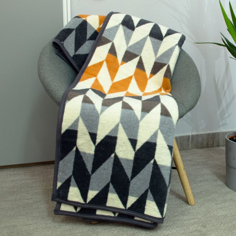 ECO BLANKET 150x200 - 18118-A Yellow Squares