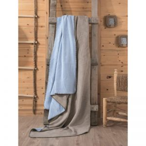 CB COTTON BLANKET DOUBLE - VIZON MAVI