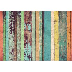 Non-Woven 966 Colored Wooden Wall 366x254