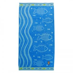 PLAŽNI PEŠKIR  Beach Master 88x172 - Blue Fishes
