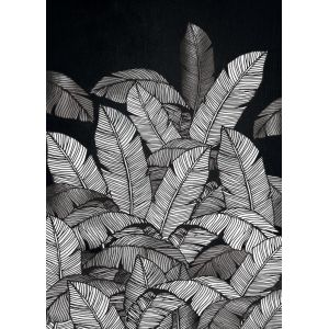 SLIKA 60X90 TOIF22710 - Leaves Black White