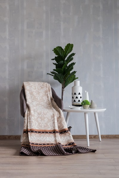 ECO BLANKET 150x200 - 16108-A - Braon žakard