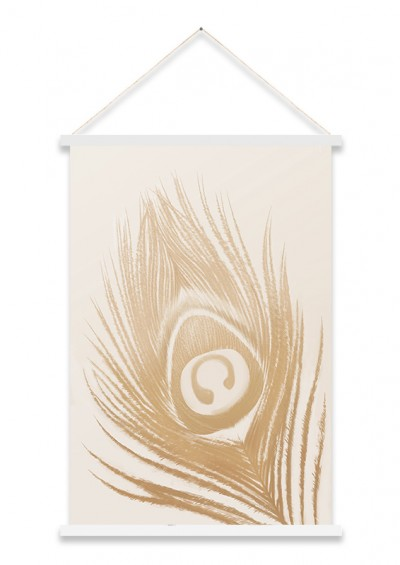 SLIKA KAKAMONO 60x90 - KARA26470 - Beige Peacock Feather